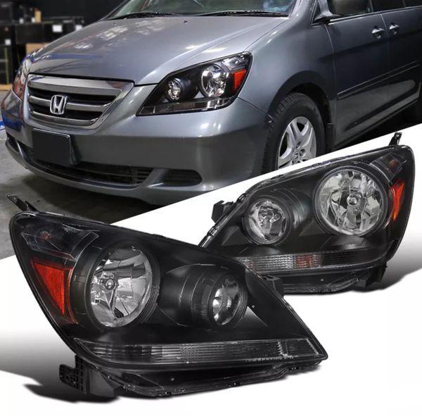 2005 07 Honda Odyssey Black Housing Headlights