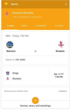 Houston Rockets vs Golden State Warriors game on November 15th for Sale in Houston, TX