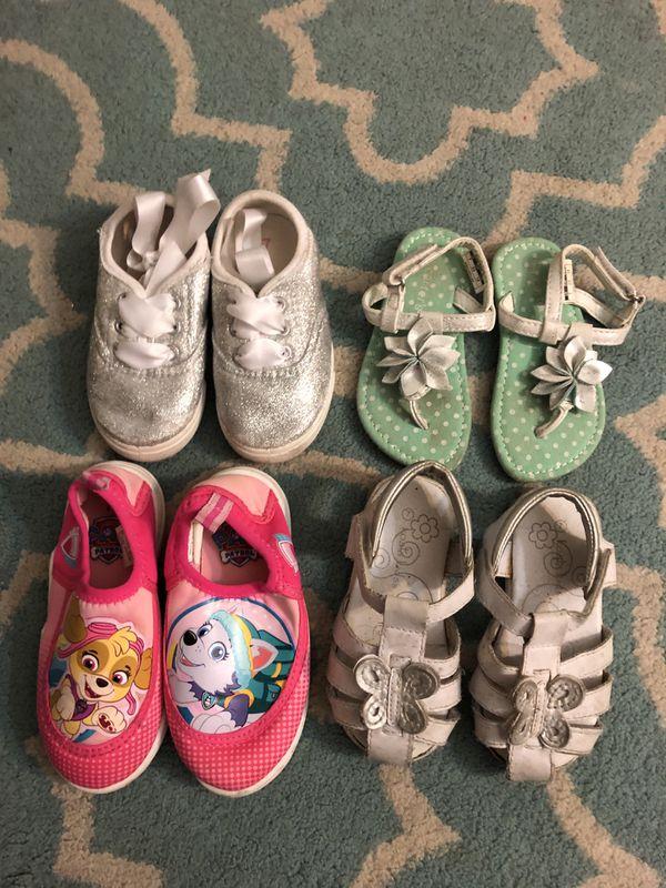Please Read Description, Size 7 Toddler Girl Shoe Lot. 4