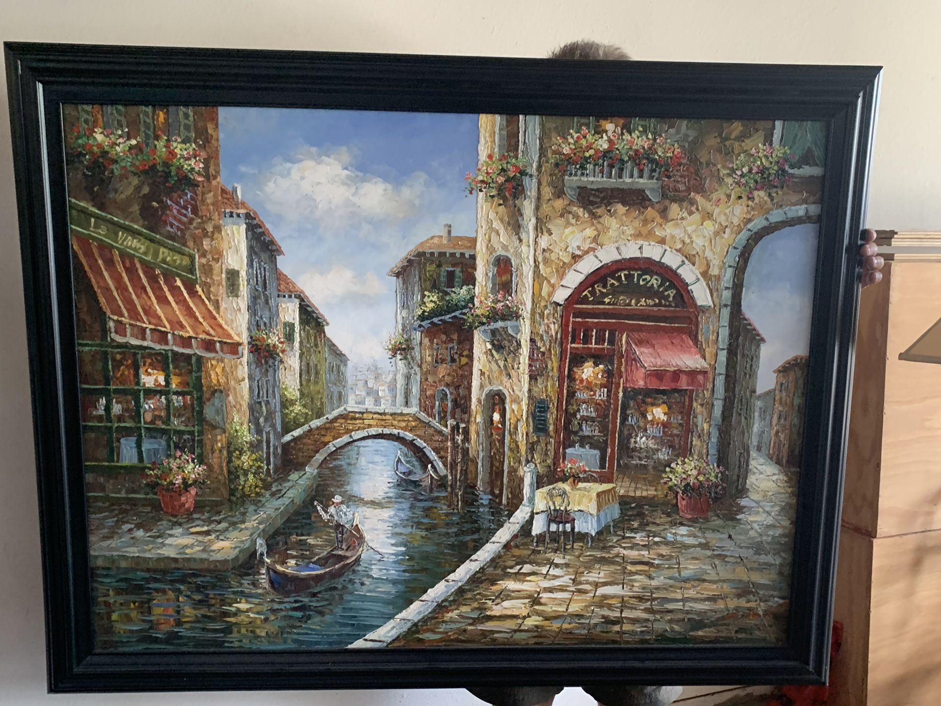 """Beautiful painting of Italy $50.00, 54""""x 43"""""""