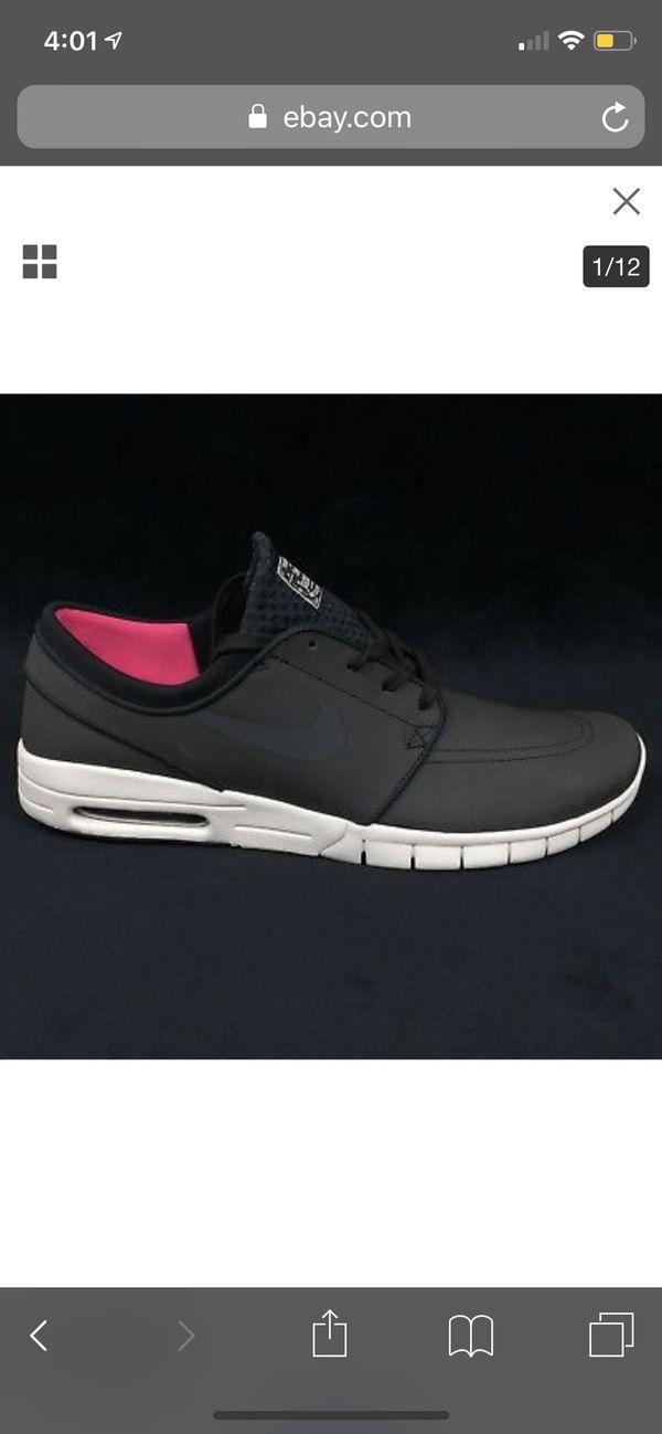sale retailer e3a5e a67ac NEW - Nike SB Stefan Janoski Max L Skateboarding Shoes Mens - Size 9 -Black