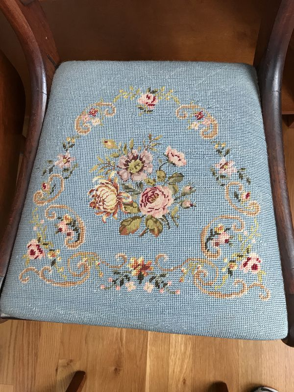 - Antique Needlepoint Chair (Furniture) In Raleigh, NC - OfferUp