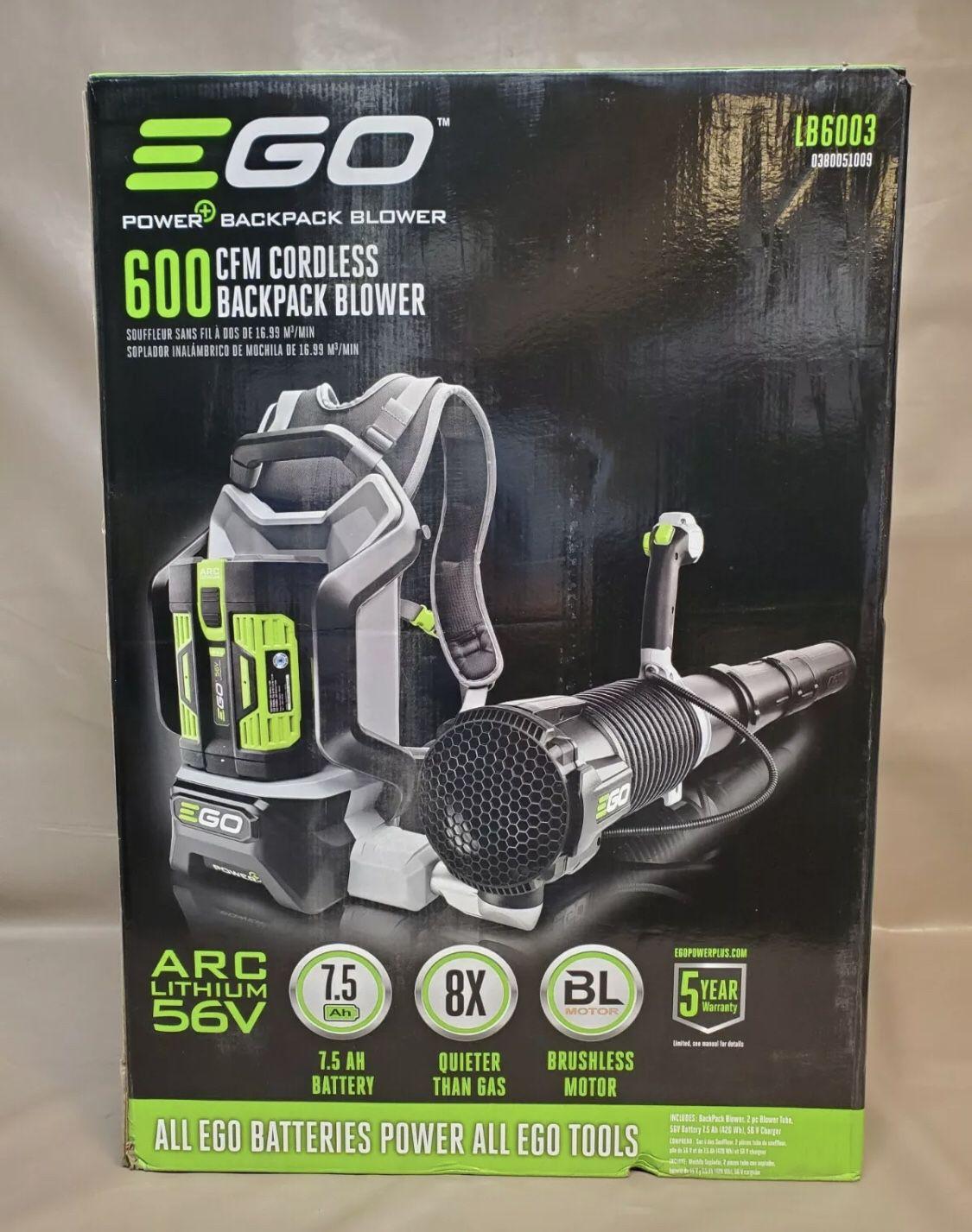 EGO 56 Volt Backpack Leaf Blower With Battery & Charger 145 MPH 600 CFM 56V