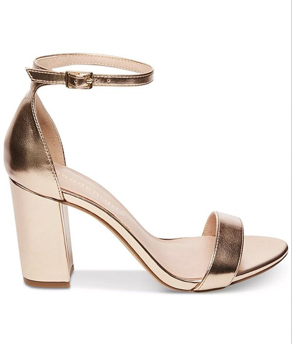 4a64e325767d3e Madden Girl bella two-piece block heel sandals - rose gold - 6 for Sale in  San Bruno