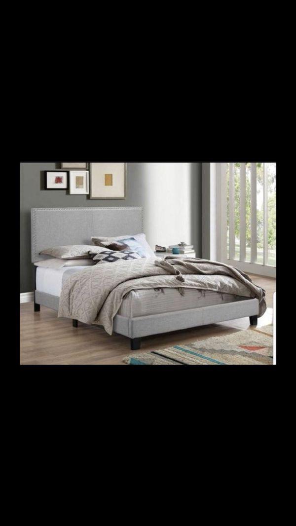 Grey King Nailhead Bed Frame (Furniture) in Avondale, AZ - OfferUp