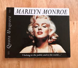 Marilyn Monroe: Quote Unquote Book by Janice Anderson for Sale in Sterling, VA