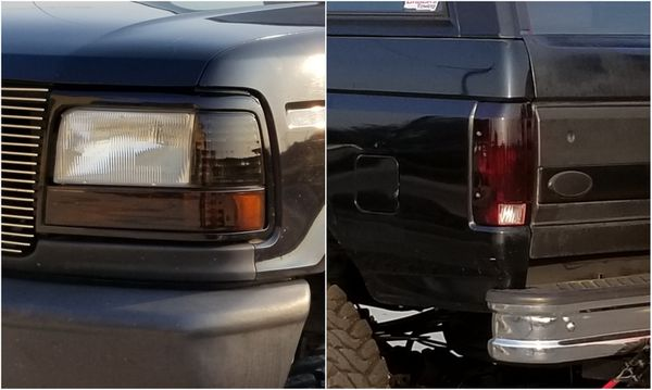 1992 1996 Ford Bronco F150 Headlights