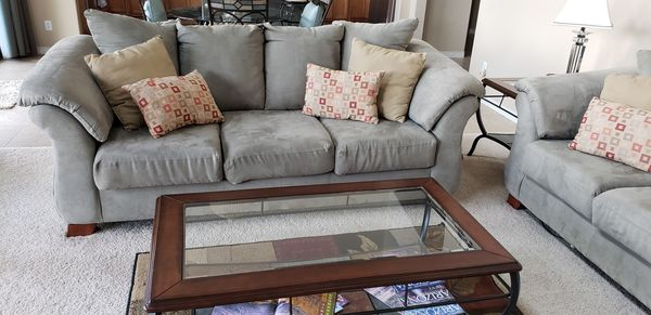 Sage green microfiber sofa for Sale in Payson, AZ - OfferUp
