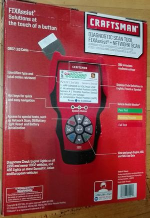 Craftsman Diagnostic scan tool w/fix-Assist & Network Scan Bluetooth for  Sale in Tacoma, WA - OfferUp