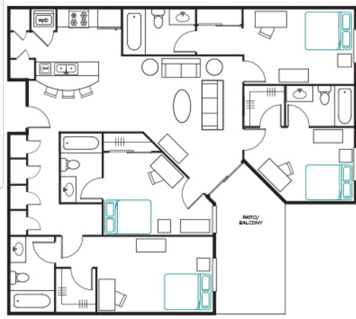Save over $180 per month for an ASU apartment room with private bathroom