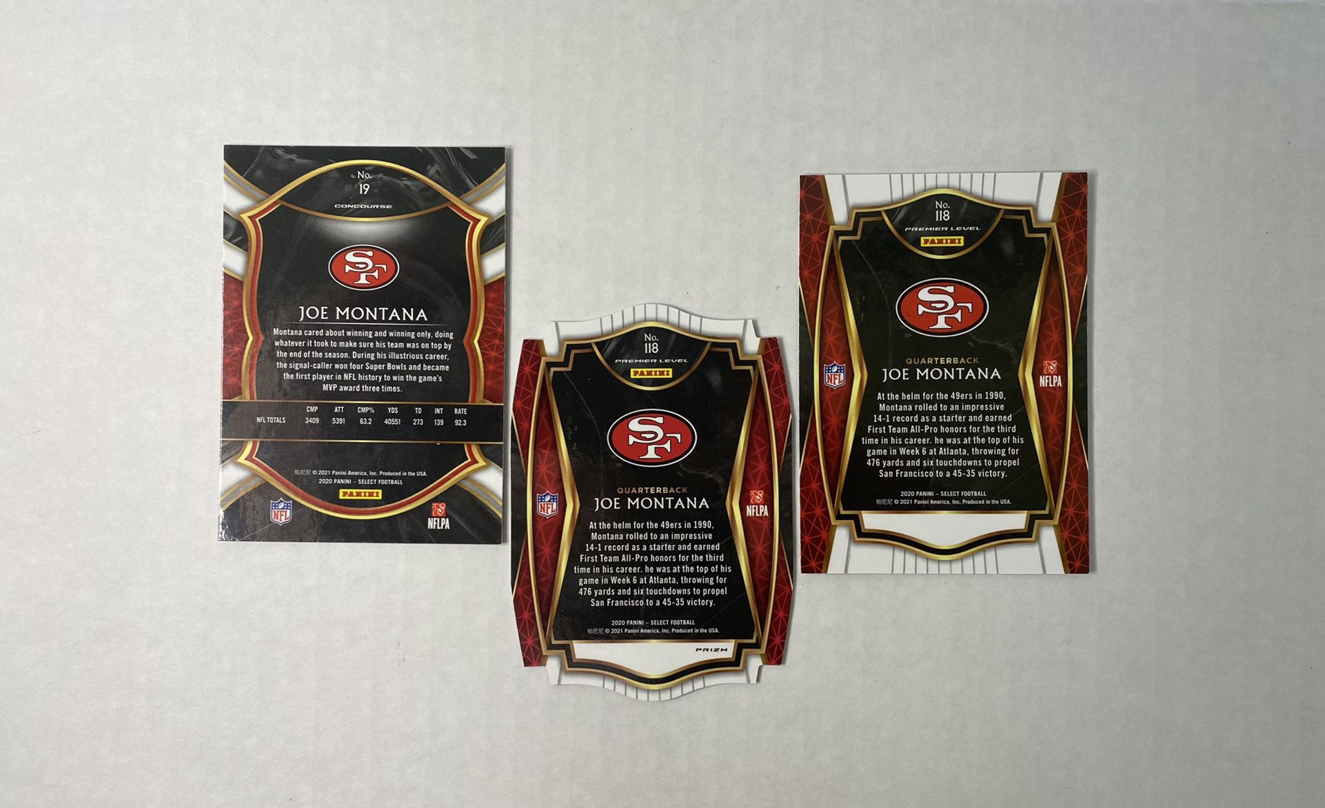 Joe Montana Select Cards