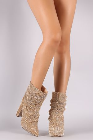 Gold Mid Calf Boots for Sale in Dallas, TX