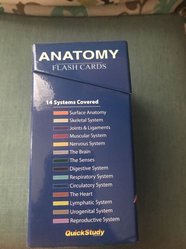 Anatomy Flashcards Quickstudy Vincent Perez For Sale In Tampa Fl