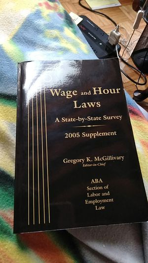 Wage and Hour Laws A state by state survey 2005 suppliment for Sale in Boston, MA