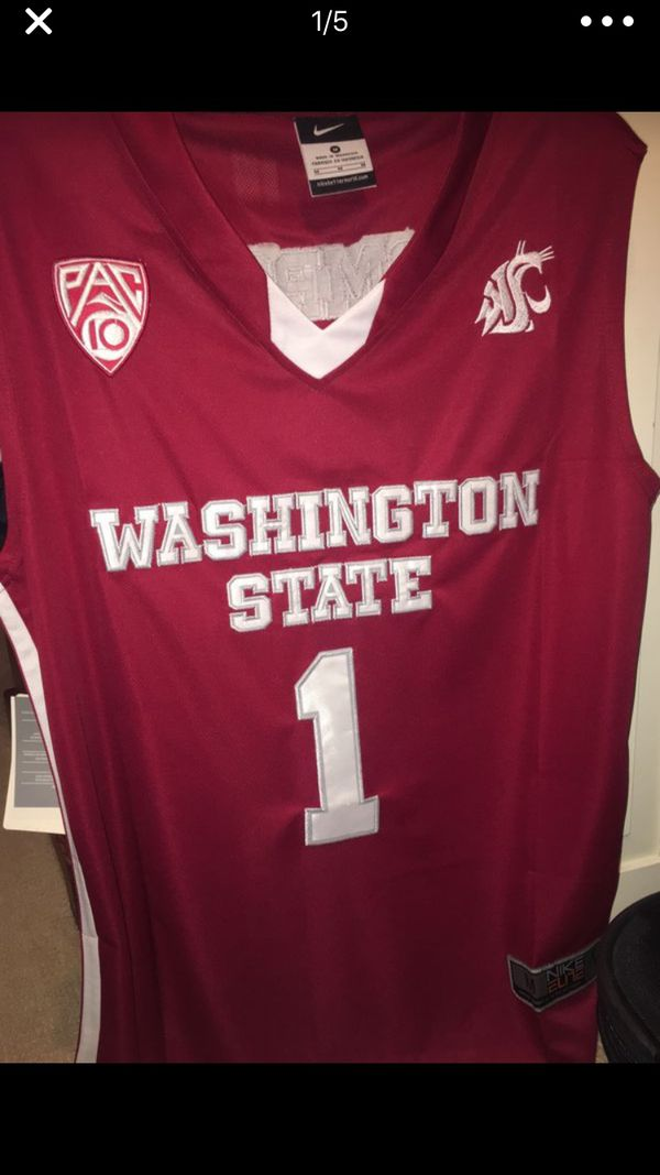 sports shoes 8d001 ce08a Brand New WSU Klay Thompson Jersey Nike College Basketball Medium #1 Red  and White Throwback for Sale in Pullman, WA - OfferUp