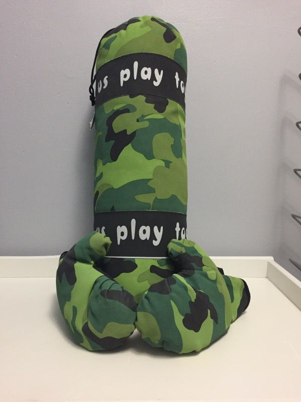 Kids punching bag and gloves