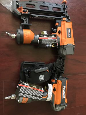 Ridgid 16ga nail and roof nail gun power tool new for Sale in Silver Spring, MD