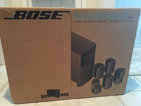 bose acoustimass speaker system 6 1 with brackets and wiring wall plates