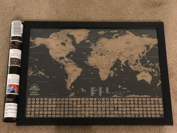 Scratch off map of the world with us states and country flags scratch off map of the world with us states and country flags world map including flags map push pins scratcher memory stickers deluxe trave for gumiabroncs Image collections
