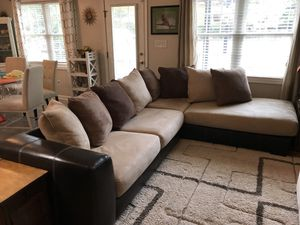 Faux suade sectional for Sale in Lynchburg, VA