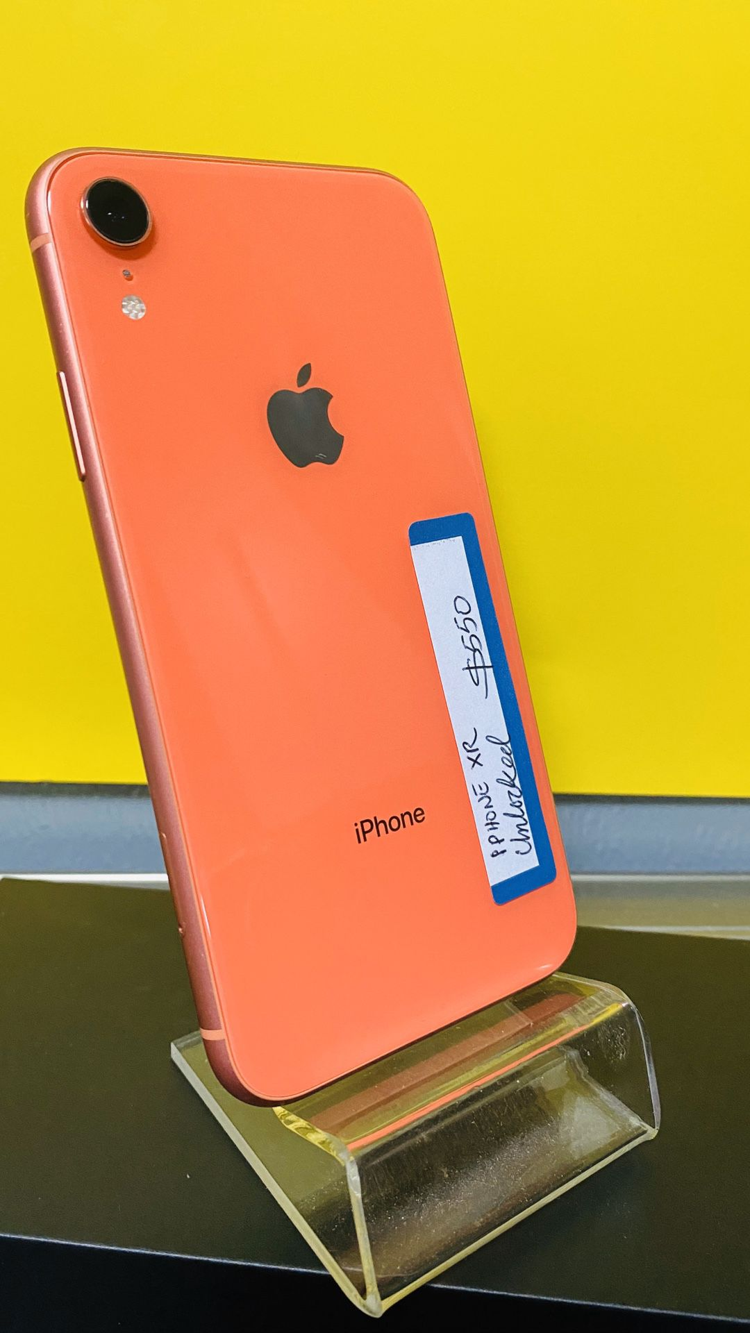 iPhone XR CORAL UNLOCKED (((Finance any phone for 54 down payment, no credit needed take home today StorF: The Cell Phone Shoppe Address: 2661 Midwa