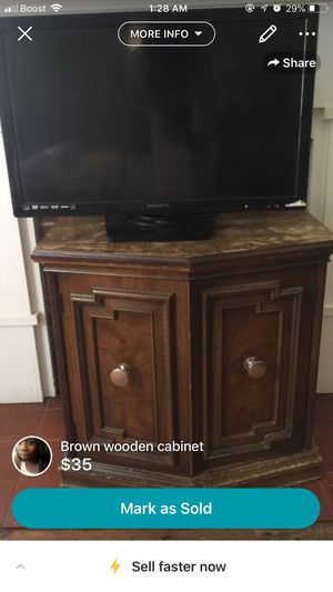Tv and wooden stand. for Sale in Charlottesville, VA