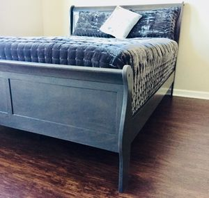 New Gray Queen Sleigh Bed for Sale in Chevy Chase, MD