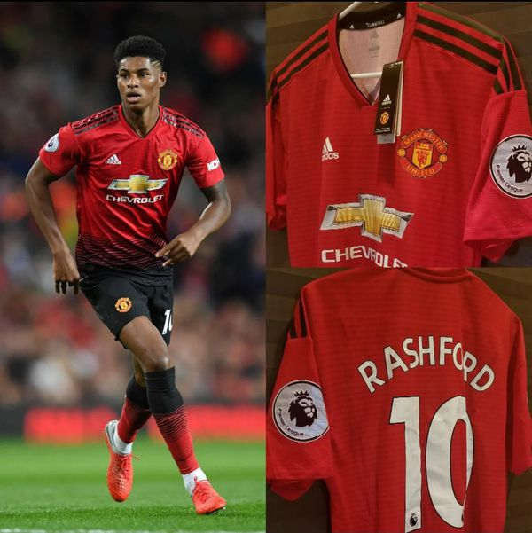 half off df080 9e6b5 Manchester United Home #10 Rashford Premier League Jersey (Player Version)  for Sale in McAllen, TX - OfferUp
