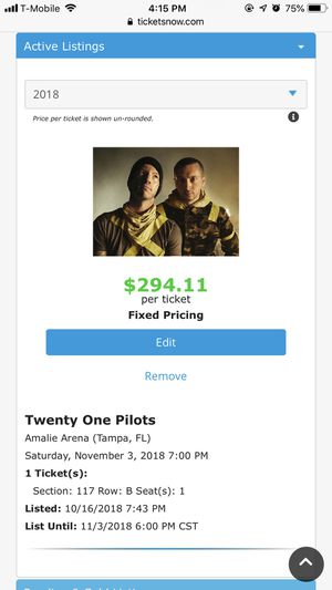 Twenty One Pilots The Bandito Tour Tampa, FL for Sale in Tampa, FL