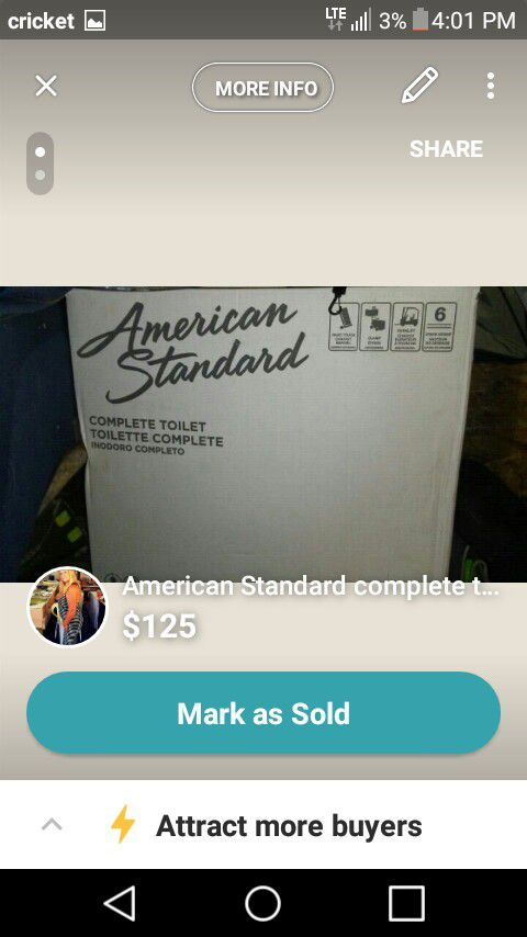 American Standard Toilet for Sale in Mims, FL - OfferUp
