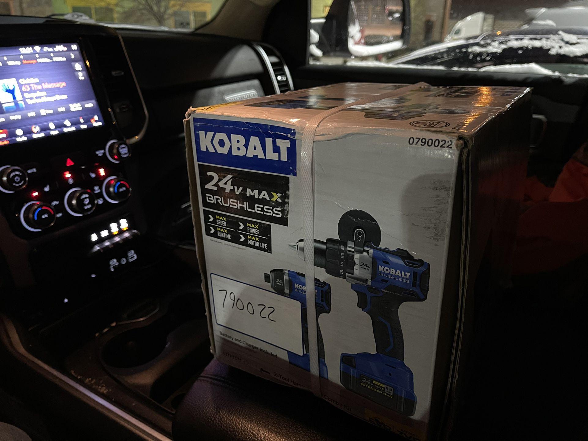 NEW 24v Kobalt Hammer Drill & Impact Driver Cordless 4ah Battery
