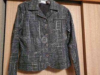 Designer Chico's Jacket, size small. Thumbnail