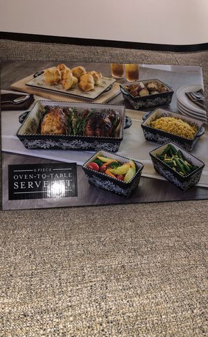 6 PCS OvenTo Table Serve Set. Please see all the pictures and read the description for Sale in Falls Church, VA