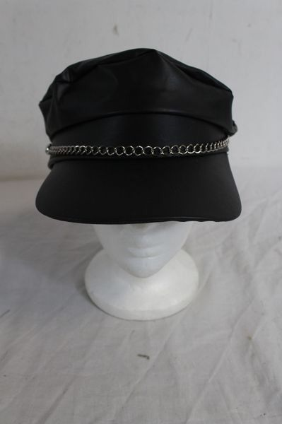 Black Biker Style Halloween/Party Cap