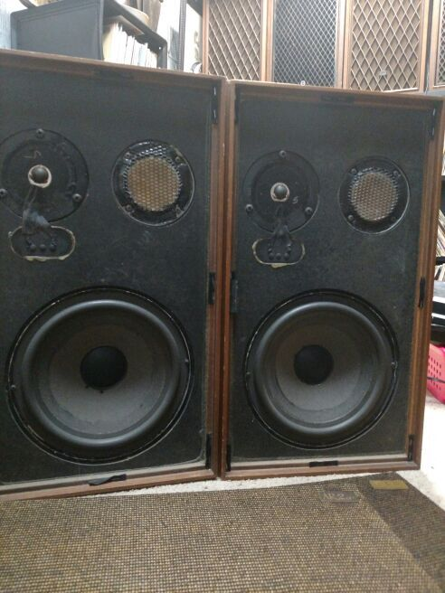 Ar 2ax Acoustic Research Speakers Big Floor Standing