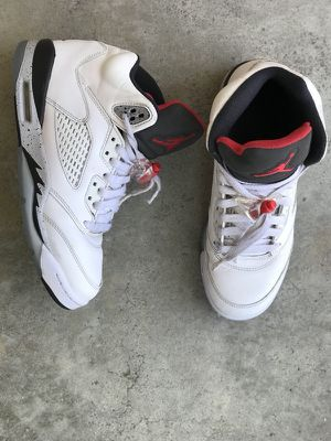 a37794df23594a Air Jordan 5 white cement Sz 6y (7.5 women s) for Sale in Pacifica