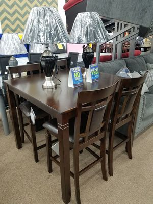 Ashley Furniture brown color counter height 5 piece dining table set for Sale in Takoma Park, MD