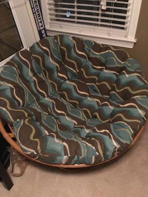 Papasan Chair & Cushion for Sale in Fort Belvoir, VA