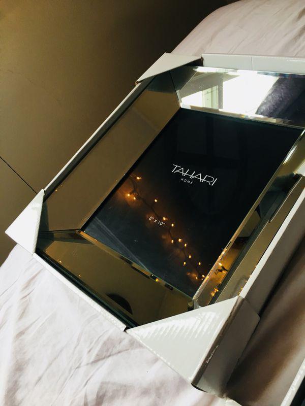 BRAND new Tahari Home beveled mirrored glass deep picture frames- 2 ...