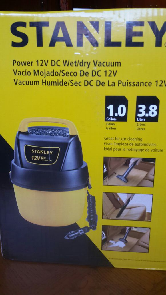 Stanley wet and dry car vacuum