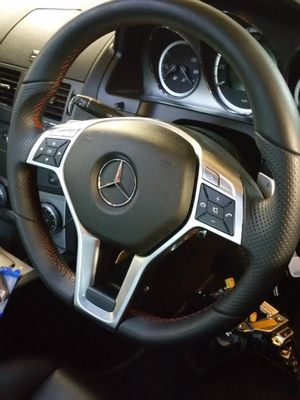 Mercedes OEM W204 Facelift Steering Wheel with Red Stitching for Sale in Ashburn, VA