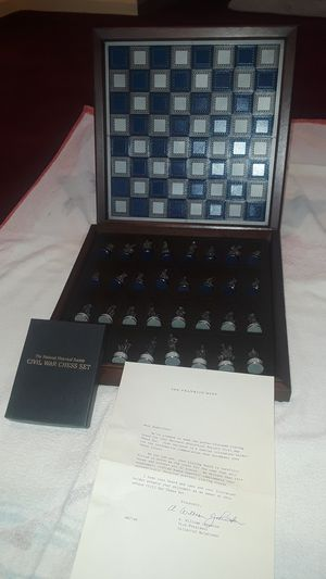 Photo Franklin Mint limited edition Civil War chess set