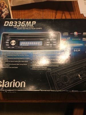 Clarion CD Player & Radio with extra cables for Sale in Chantilly, VA