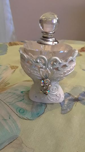Crystal and Clay Carved Perfume Bottle for Sale in Frederick, MD
