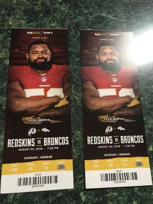 Redskins vs Broncos tickets for Sale in Manassas, VA