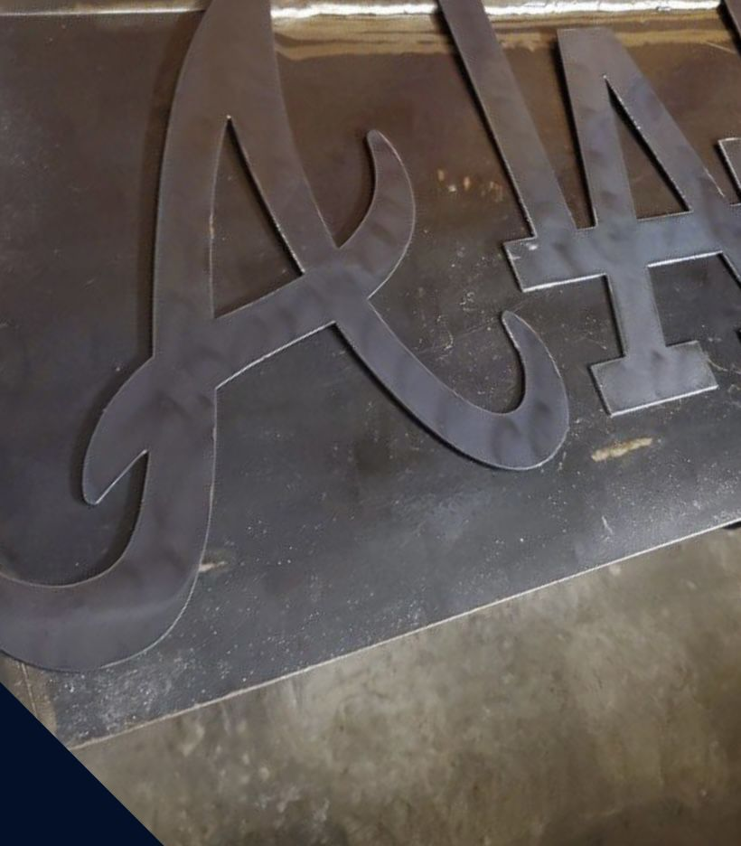 Antlanta Braves Metal Logo