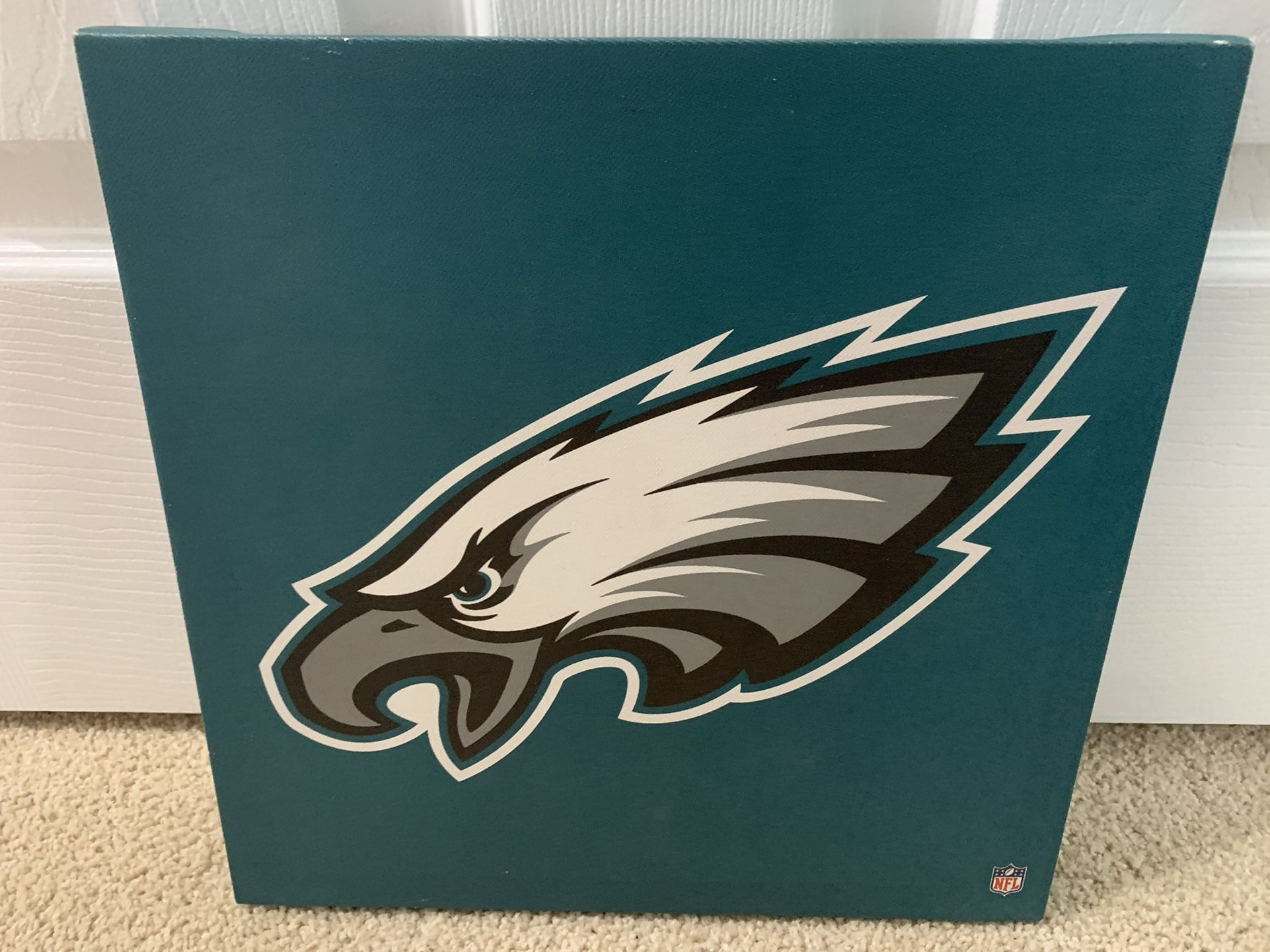 """Philadelphia Eagles Canvas Portrait Logo Painting Picture For Wall 12"""" X 12"""""""