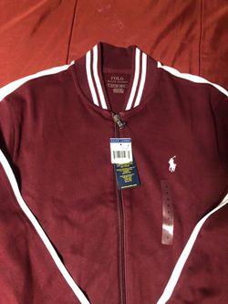 Mens Burgandy Ralph Lauren Polo Jacket Thumbnail