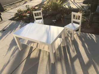 """Just Table ,,chairs  Sold Table Size : High 18"""" Depth 22"""" Length 35"""" Thumbnail"""