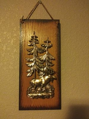 Antique wood and moose wall decor for Sale in Boring, OR